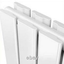 White Vertical Horizontal Flat Panel Designer Radiator Tall Upright with Valves