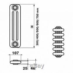 Windsor 3 Column Horizontal Central Heating Radiator 500mm x 532mm 11 Section