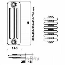 Windsor 4 Column Horizontal Central Heating Radiator 600mm x 394mm 8 Section